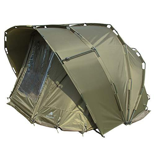 CampFeuer Angelzelt Typhoon I 2 Mann Karpfenzelt für Angler...